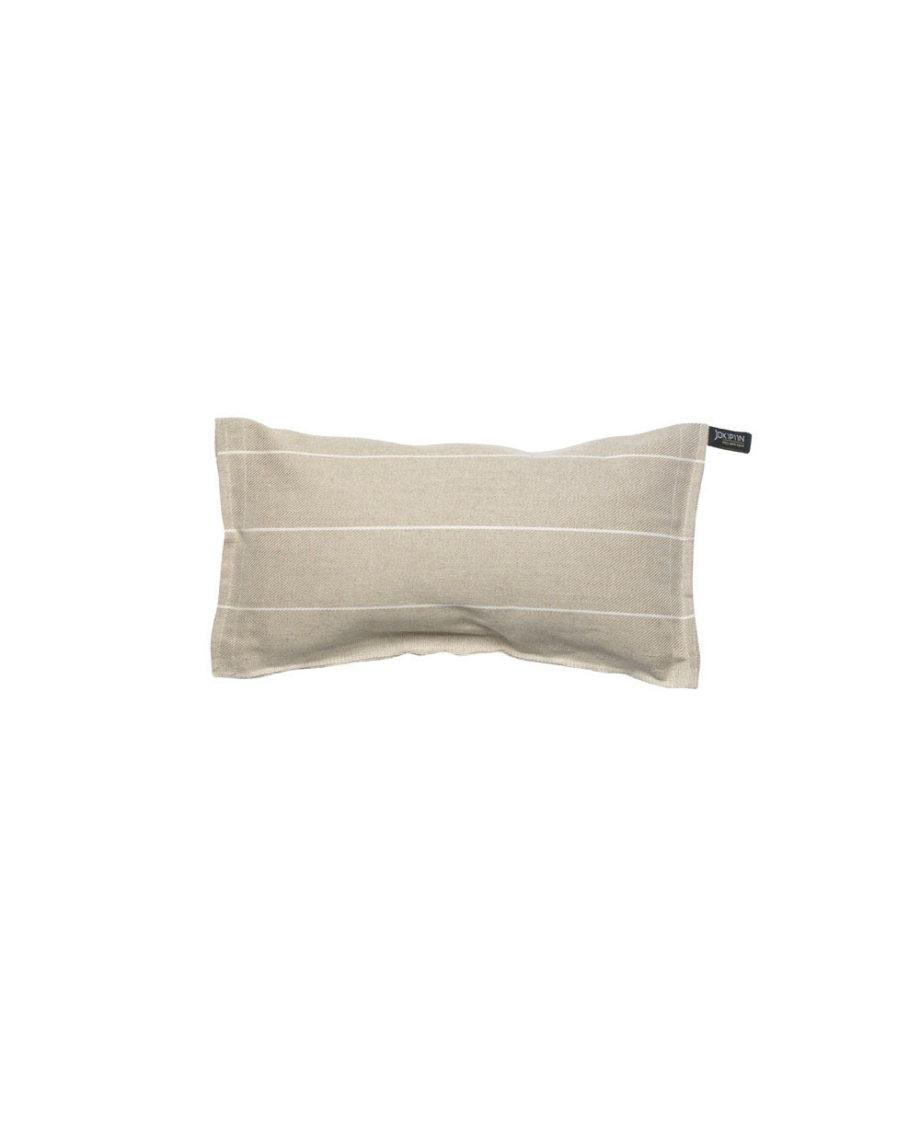 Liituraita-tyyny-valkoinen